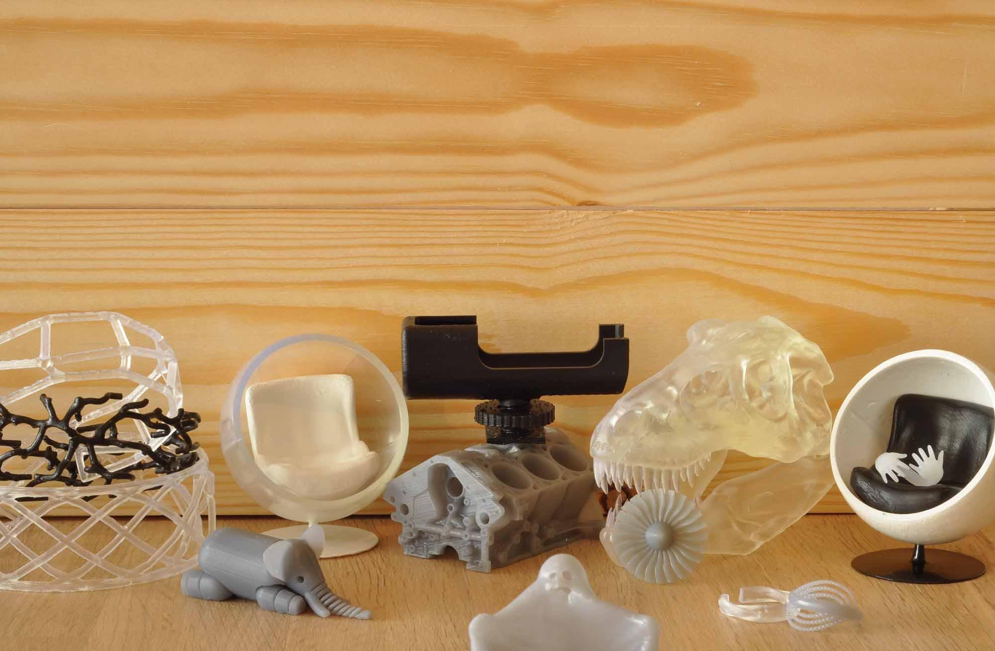 Mix of 3D printed models